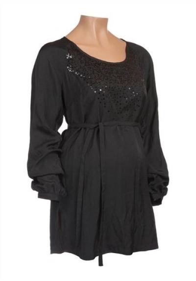 mama licous Těhotenská tunika Mamalicious v černé barvě
