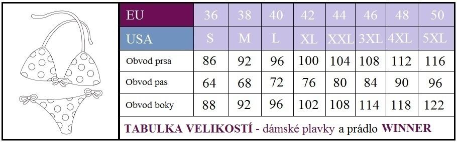 TABULKA VELIKOSTÍ DÁMSKÉ PLAVKY 862c416926