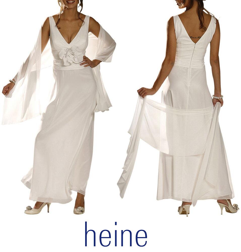 43b07872bdfd Svadobné šaty v krémovej farbe so šálom HEINE