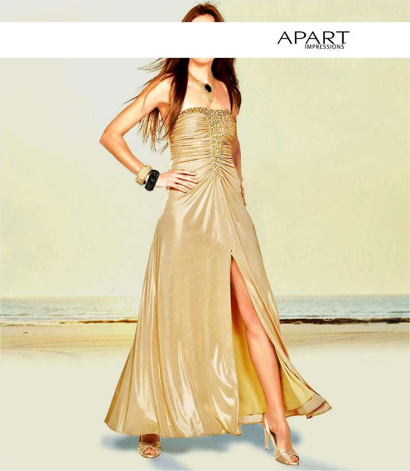 Zlaté spoločenské šaty APART eb14759645