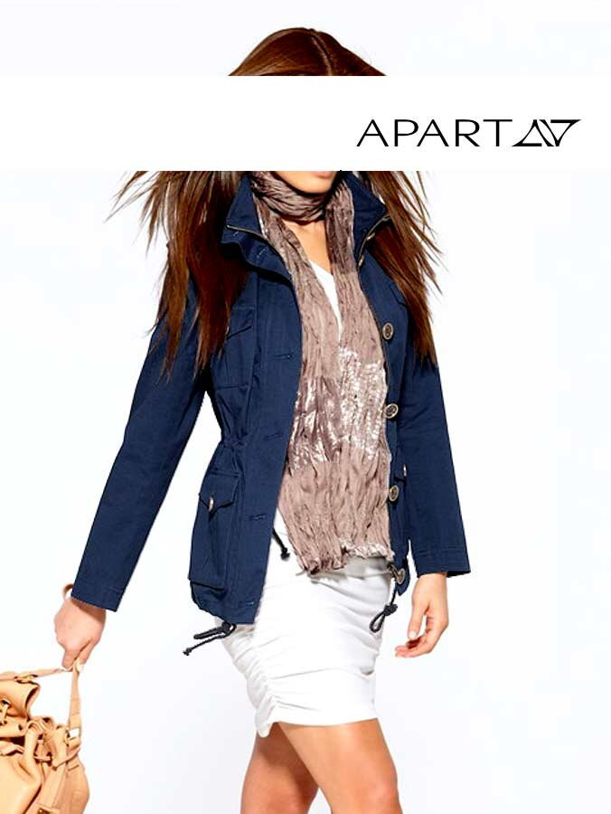 Cargo kabát APART modrý 303bdab768c