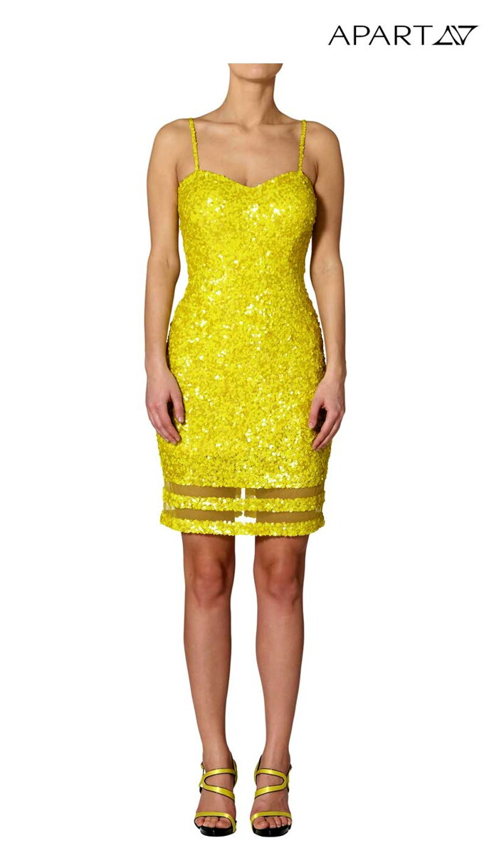 fb0f0bb13a7f APART luxusné šaty s flitrami žlté