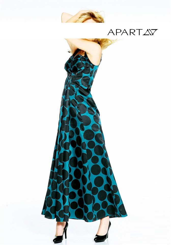 431624342b2 APART dlouhé šaty s puntíky