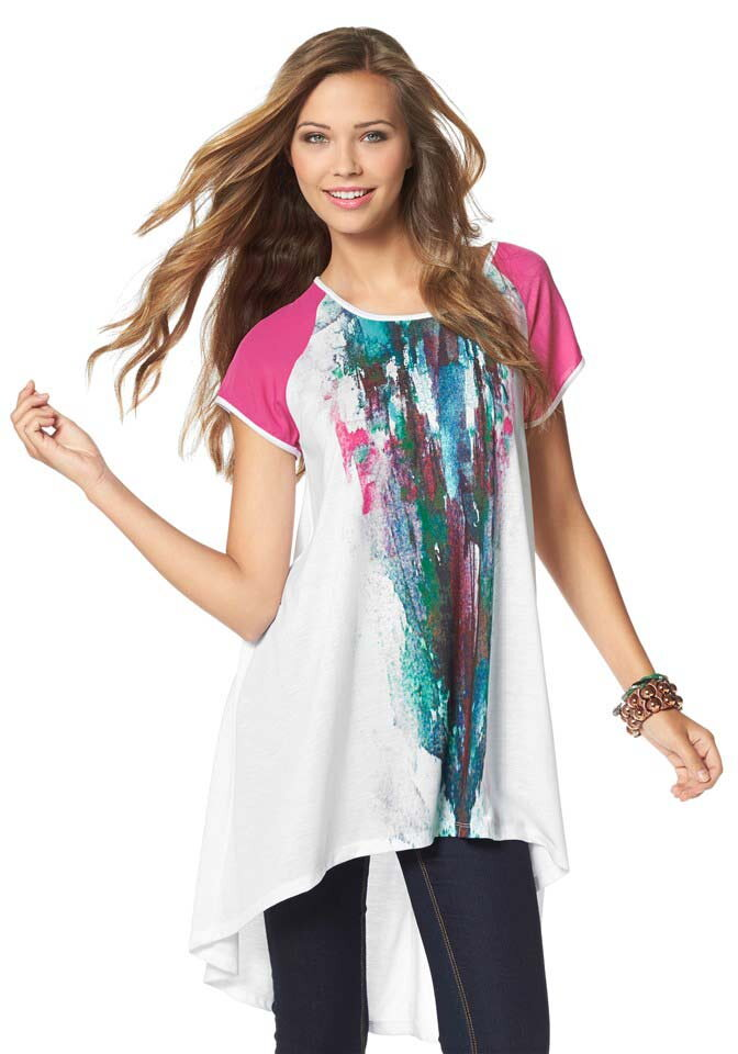 f6ab05752f51 AJC módne dámske dlhé tričko v asymetrickom strihu