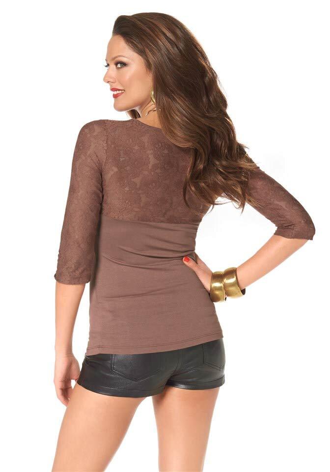 Elegantní dámské tričko s krajkou MELROSE a281cbf59e9