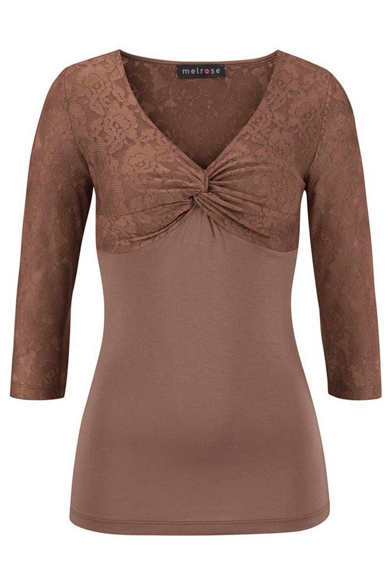 00cb1dcc366 Elegantní dámské tričko s krajkou MELROSE