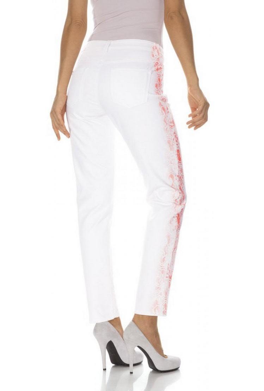 f0dac53e778 HEINE dámské bílé kalhoty s potiskem
