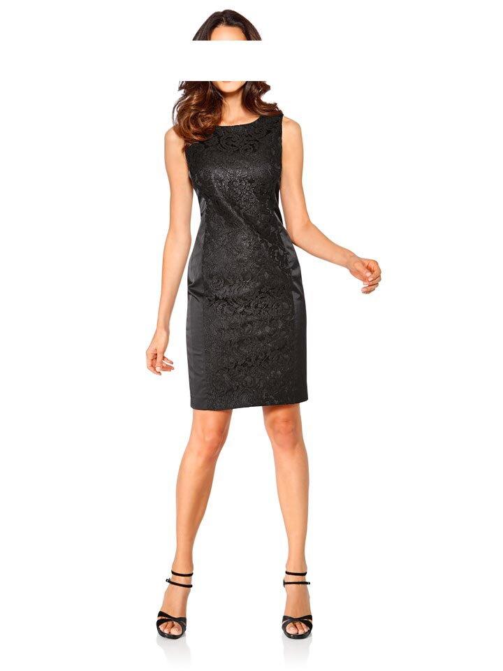 49dddc853d77 ASHLEY BROOKE EVENT úzke čierne saténové šaty