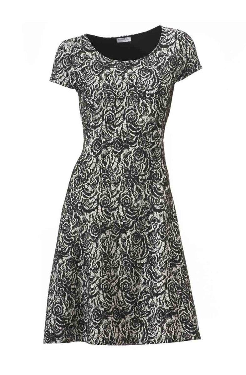 Zeštíhlující dámské šaty s krátkým rukávem i pro plnoštíhlé CLASS  INTERNATIONAL eebf1e5382