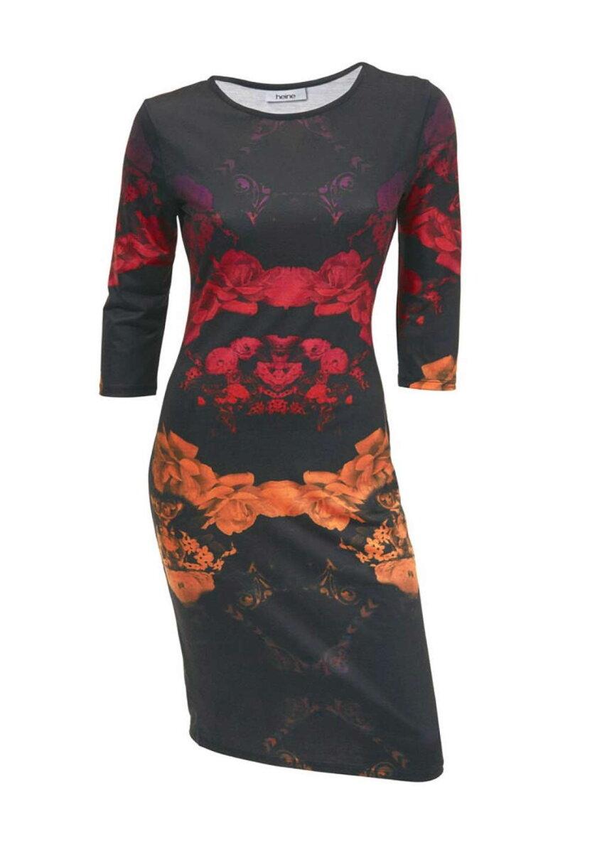 Barevné dámské šaty s květy HEINE 6bb8a4462f