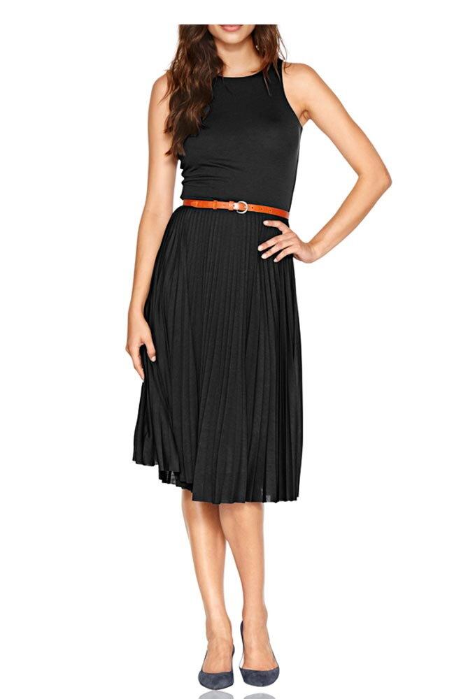 HEINE elegantné letné šaty s plisovanou sukňou c5ad2a8ee58