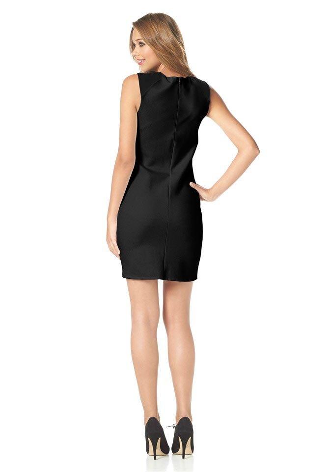 8885248243 BUFFALO značkové puzdrové šaty s imitáciou kože