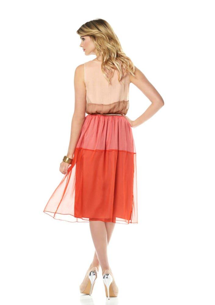 VINCE CAMUTO návrhářské šifonové letní šaty af94fcb784