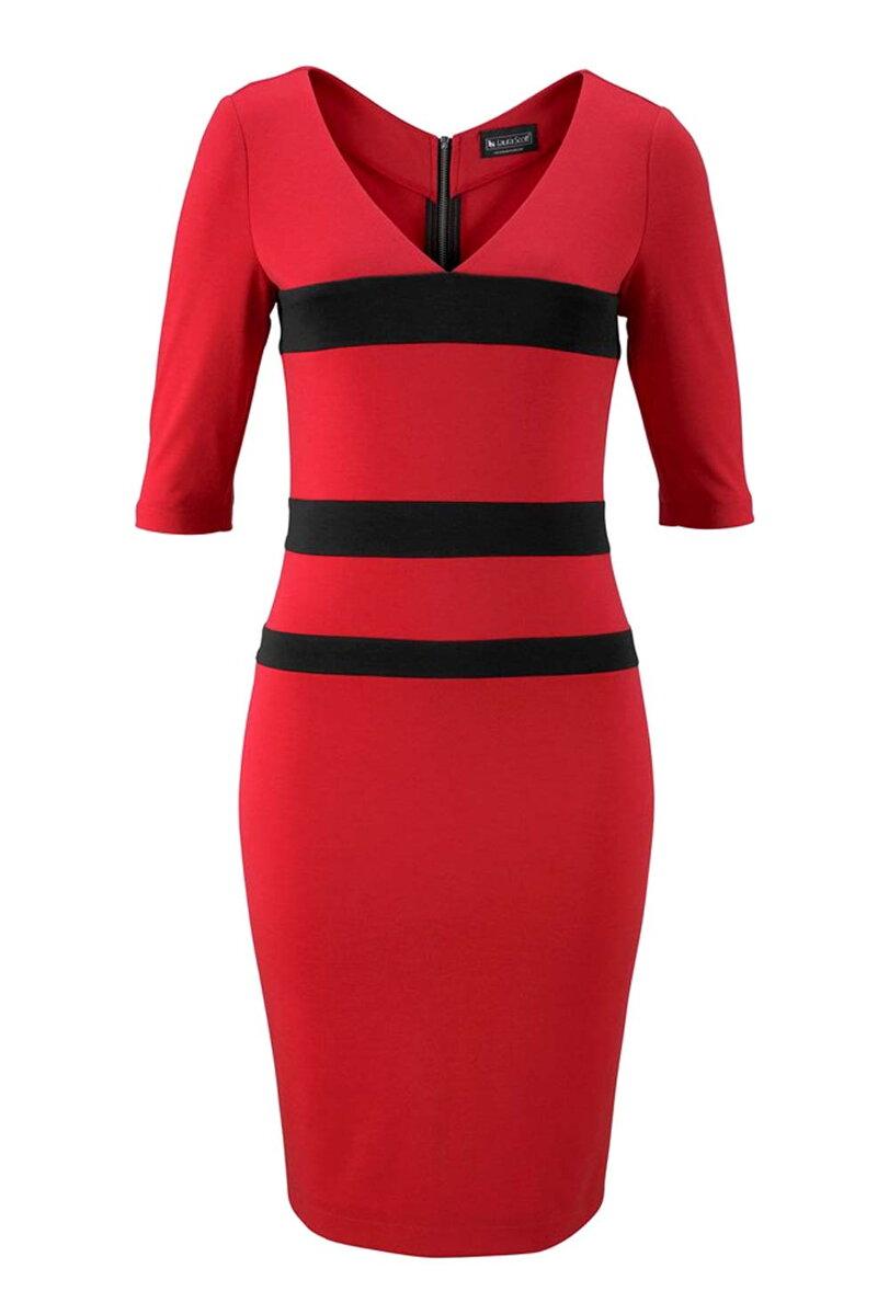 5b19d9d2671f Sexy úzke návrhárske šaty so zadným zipsom vo farbe červenej LAURA SCOTT