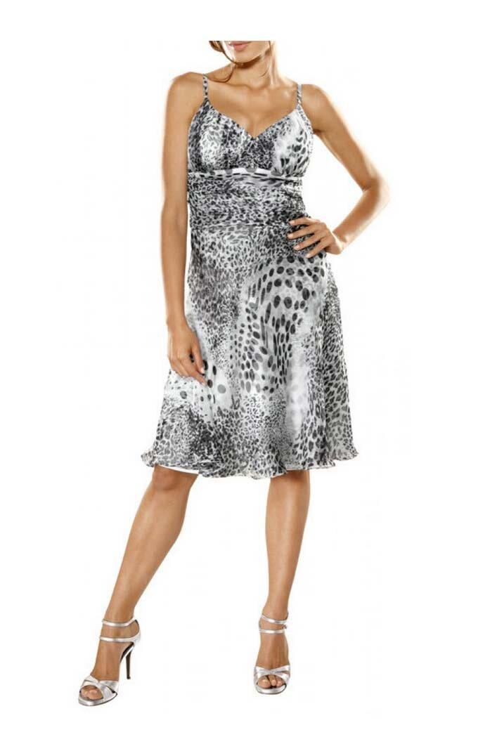 HEINE šifonové šaty na úzká ramínka d9504e02f0