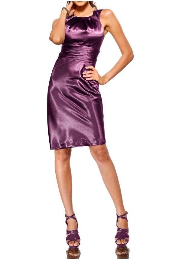 875149543aeb HEINE saténové krátké šaty - levně