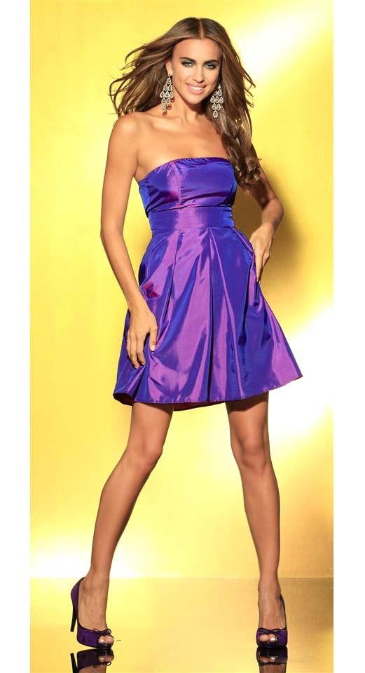 LAURA SCOTT EVENING taftové koktejlové společenské šaty fialové 1ff0c6472e