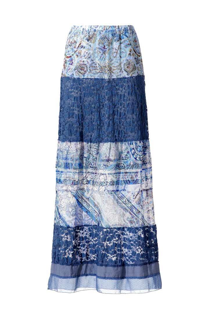 8f824aa1d035 LINEA TESINI dámska šifónová sukňa s čipkou