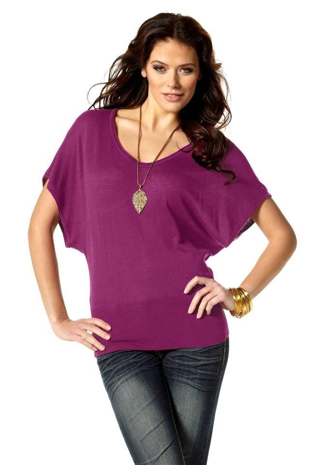 LAURA SCOTT dámský svetr s netopýřími krátkými rukávy 527c8e10c3