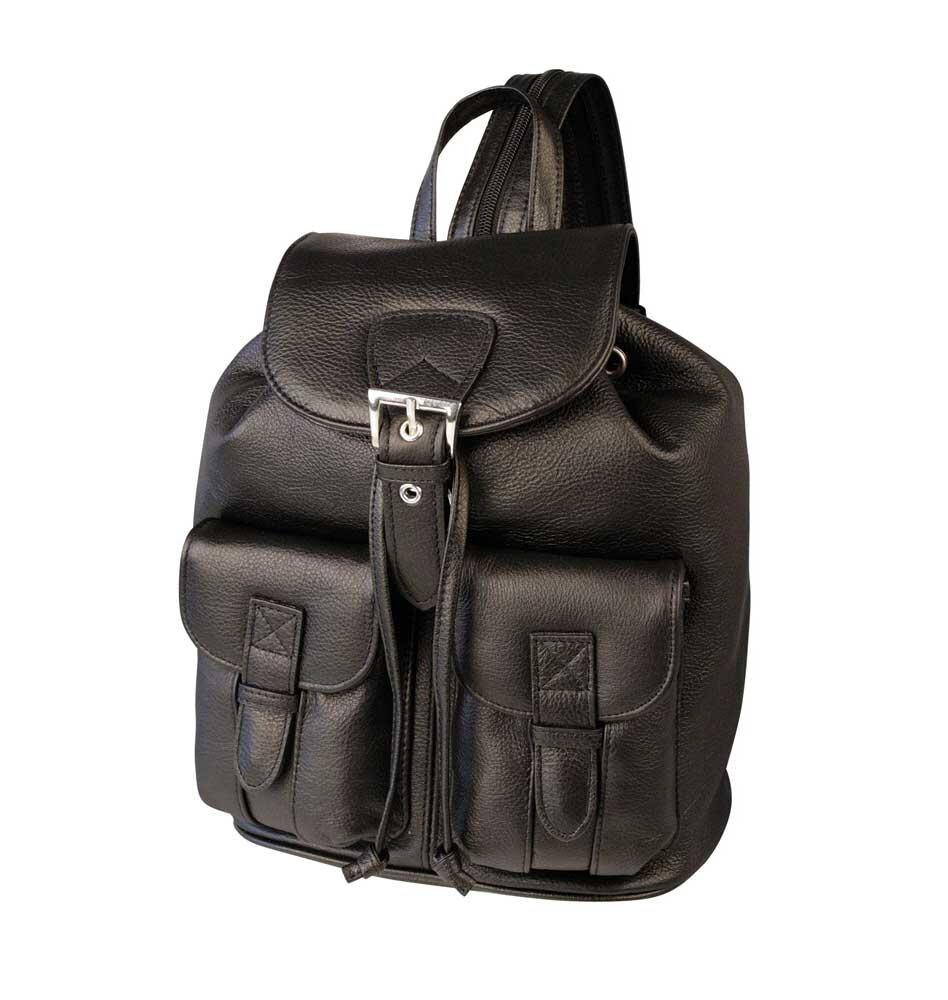 f75a878534 Kožený dámsky batoh čierny