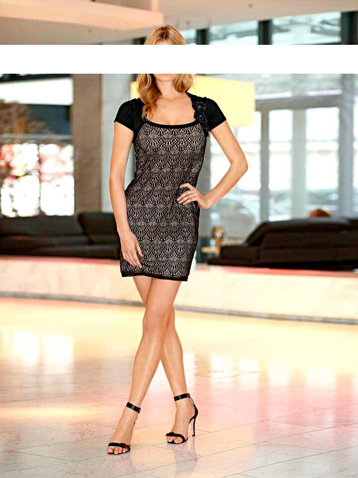 afd9d7a8c330 Ashley Brooke koktejlové krajkové šaty čierne