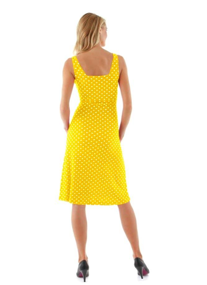 VIVANCE COLLECTION letní žluté šaty na ramínka b15d15207f