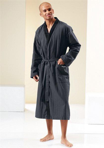 Pánský koupací plášť BUGATTI bavlněný double-face v černé barvě b14581f997