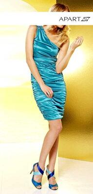 APART spoločenské šaty na jedno rameno vo farbe zelenej 358bb9343ed
