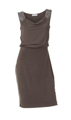 e2bab24425e3 ASHLEY BROOKE návrhárske šaty so širokými ramienkami a trblietavými  kamienkami