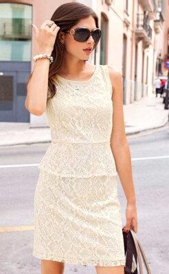 VIVANCE COLLECTION krajkové šaty 365076b4317