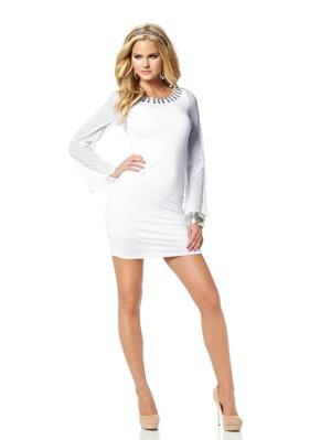 8255096d1e11 MELROSE návrhárske šaty s šifónovými rukávmi