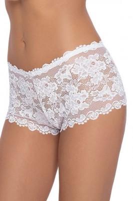 Dámské celokrajkové šortkové kalhotky Olimpia bílé 777799b861