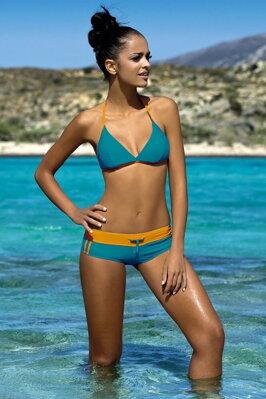 e54cfc8ec97 Dámské sportovní plavky Artis modré oranžové